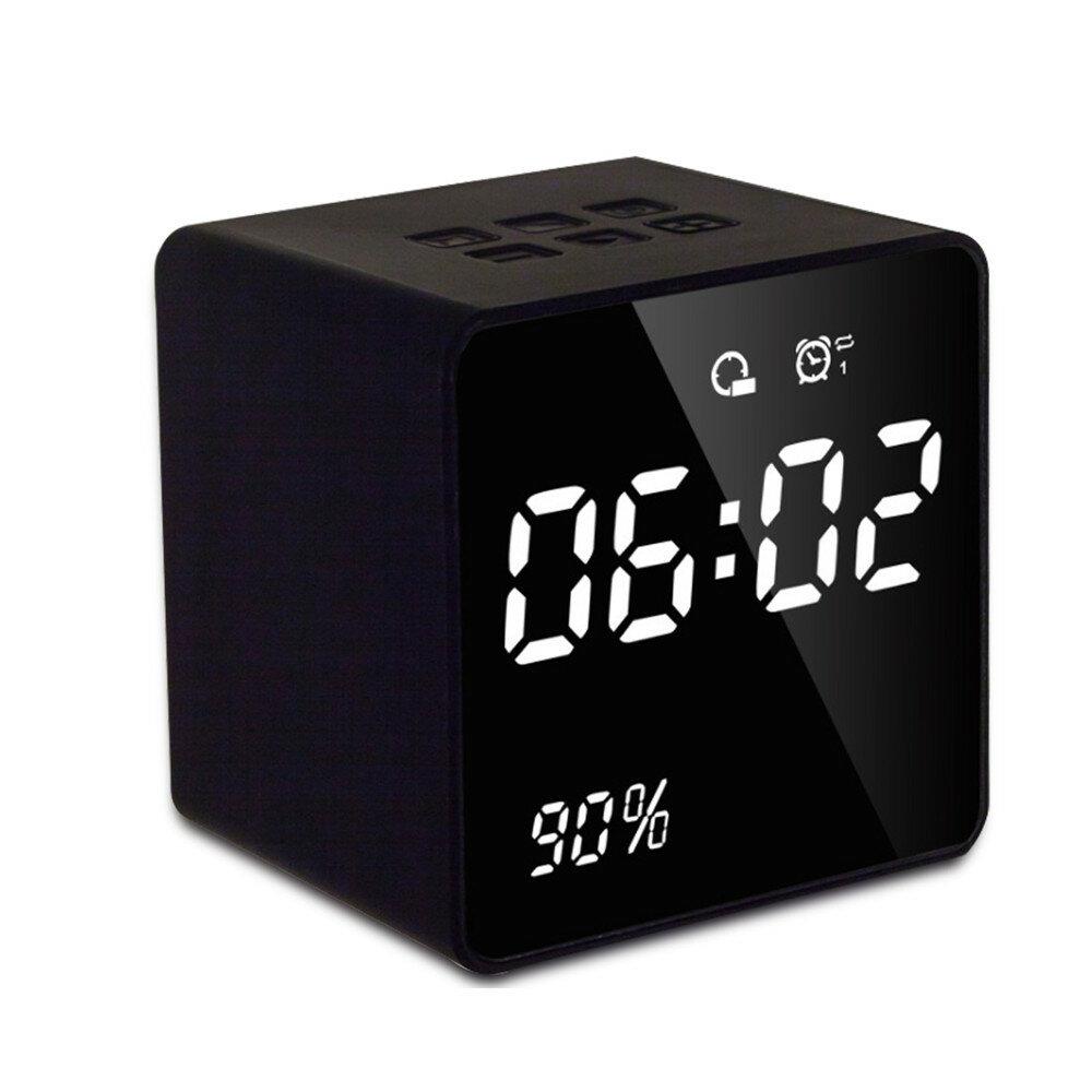 USBの充満無線ミラーの低音のスピーカーが付いているブルートゥースFMのラジオの目覚し時計