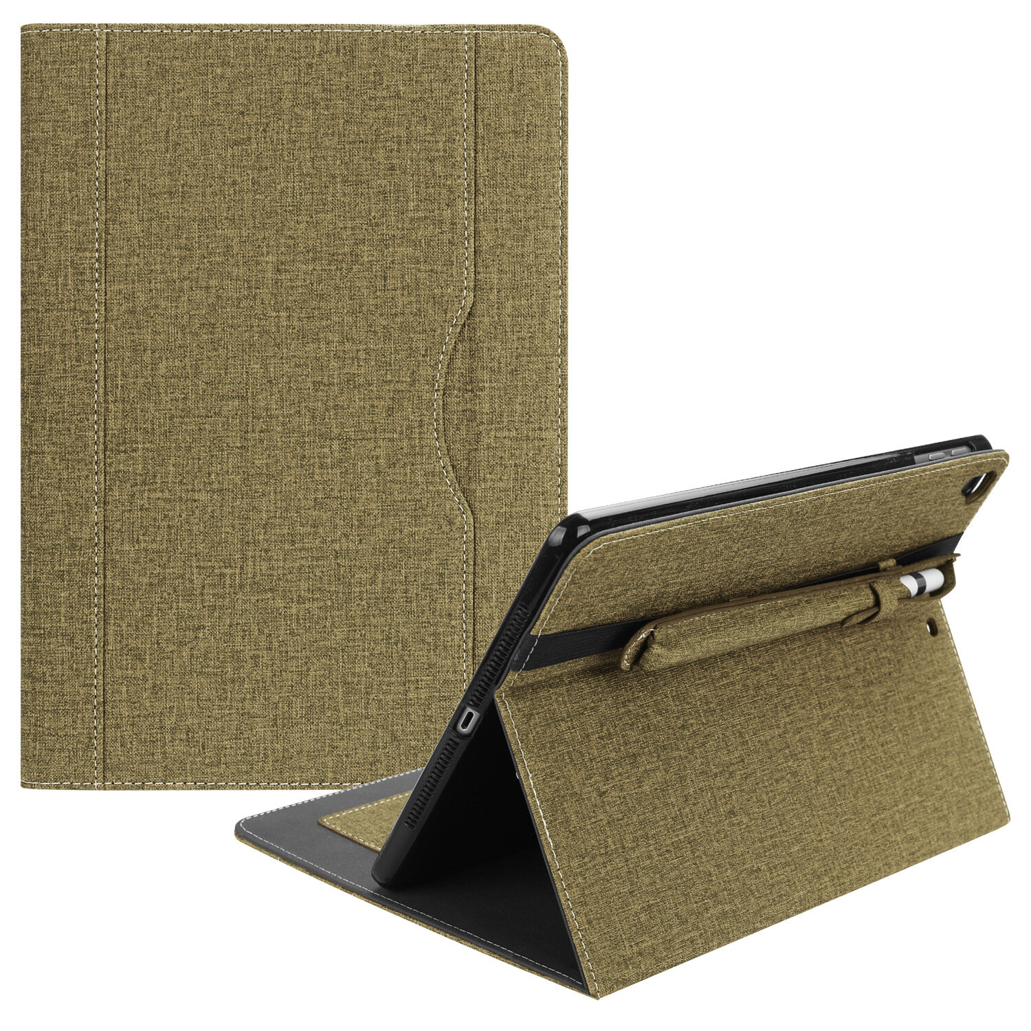Business Canvas Tablet Case With Pencil Holder For iPad Air/Air 2/New iPad 2017/2018