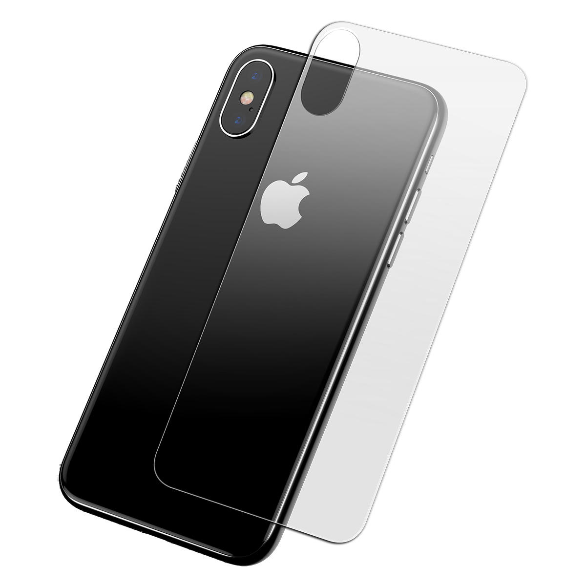 Baseus Clear Back Glass Protector For iPhone XS Max 0.3mm Scratch Resistant Anti Fingerprint All Glass