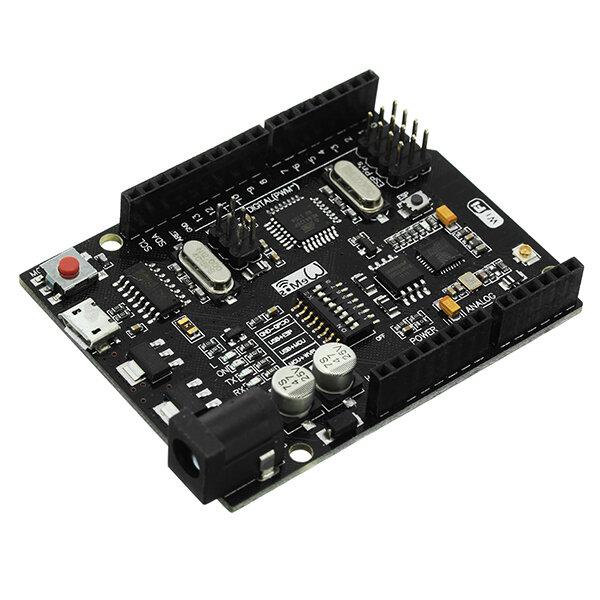UNO + WiFi R3 ATmega328P+ESP8266 32Mb de memória USB-TTL CH340G Geekcreit para Arduino - produtos que funcionam com placas Arduino oficiais