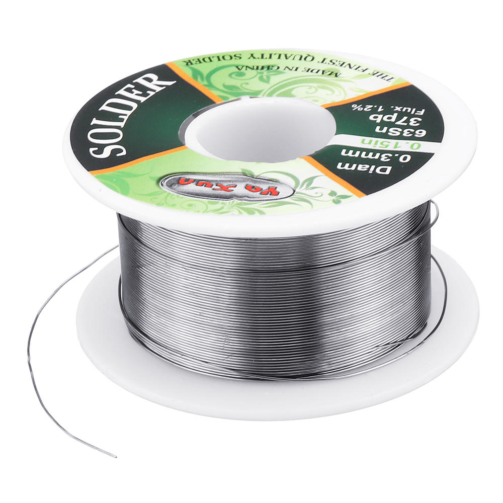 WLXY 0.3mm Diam 63Sn 37Pb Tin Lead Melt Rosin Core Solder Wire Reel Flux 1.2%