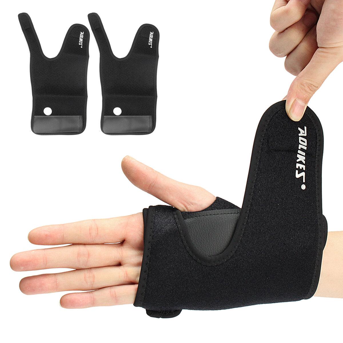 AOLIKES Pols Palm Brace Wrap Verstuiking Schade Hand Ondersteuning Protector Met Aluminium Plaat