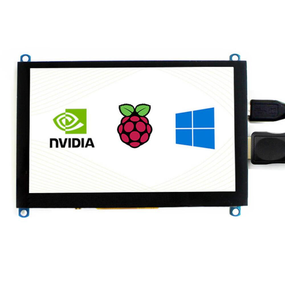 Wareshare® 5 Inch VGA HDMI High Definition Display Capacitive Touch Screen Support for NVIDIA Jetson Nano Raspberry Pi