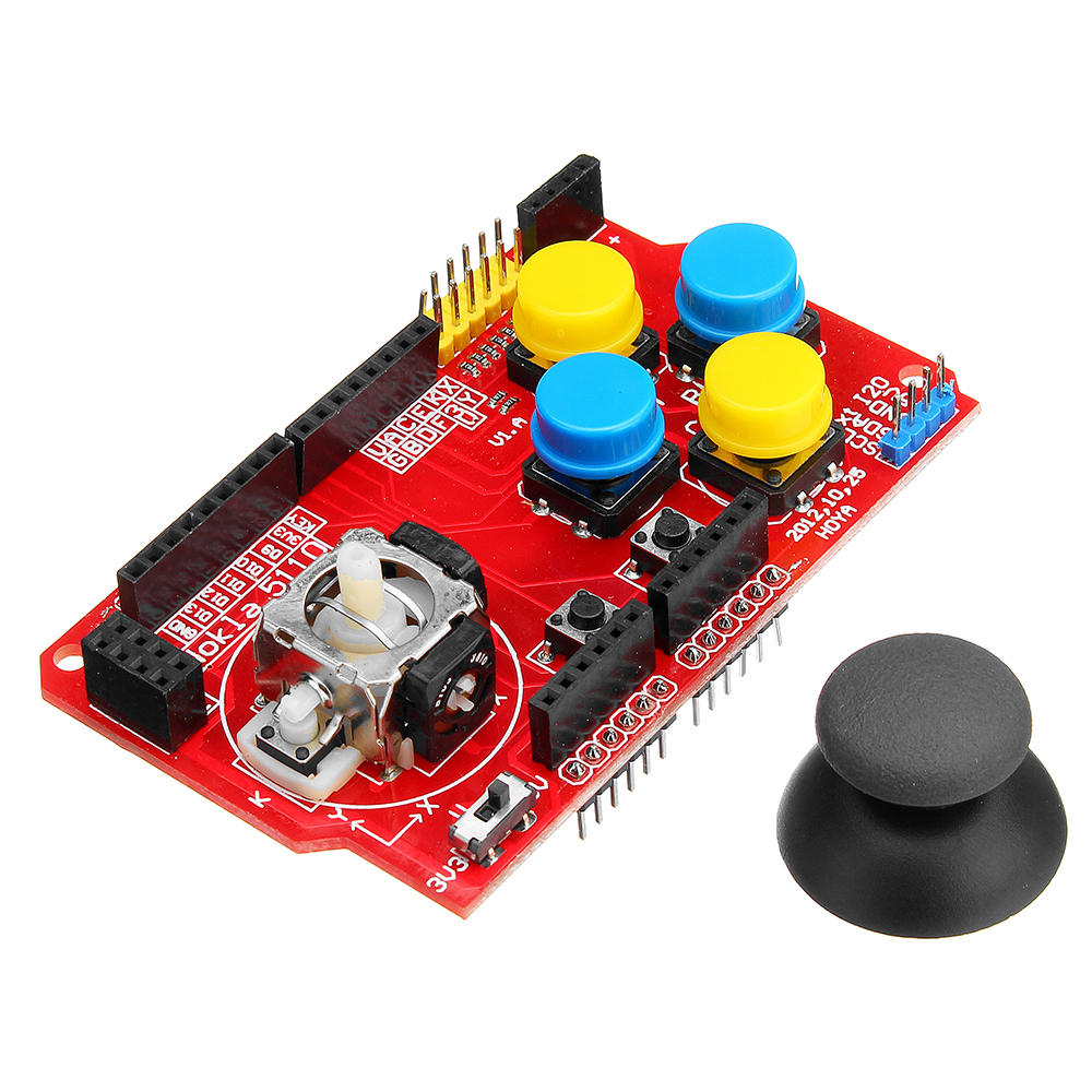 5pcs JoyStick Shield Game Expansion Board Analog Keyboard With Mouse Function Geekcreit for Arduino - products that work with official Arduino boards