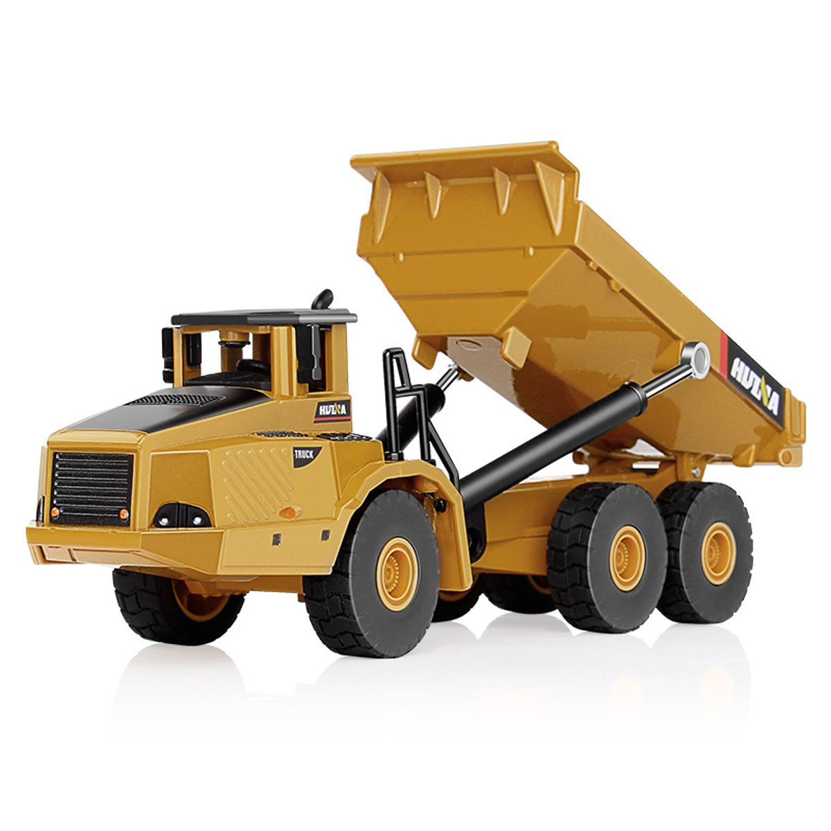 HUINA 7713-1 1/50 Scale Alloy Hydraulic Dump Truck Diecast Model Engineering Digging Toys