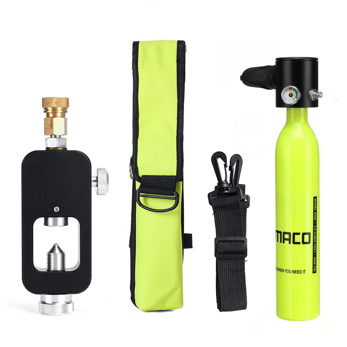 SMACO 0.5Lスキューバ酸素シリンダー水中ダイビングセット空気酸素タンクW /アダプター&収納バッグ