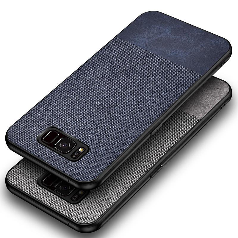 Bakeey Custodia protettiva in tessuto di cotone per Samsung Galaxy S8/S8 Plus Anti Cover posteriore per impronte digitali
