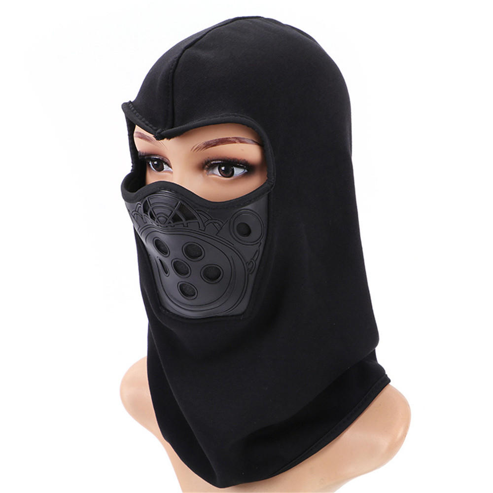 Winter Warm Riding fleece Balaclava Motorcycle Thicken Face Mask With Filter Layer Neck Protection
