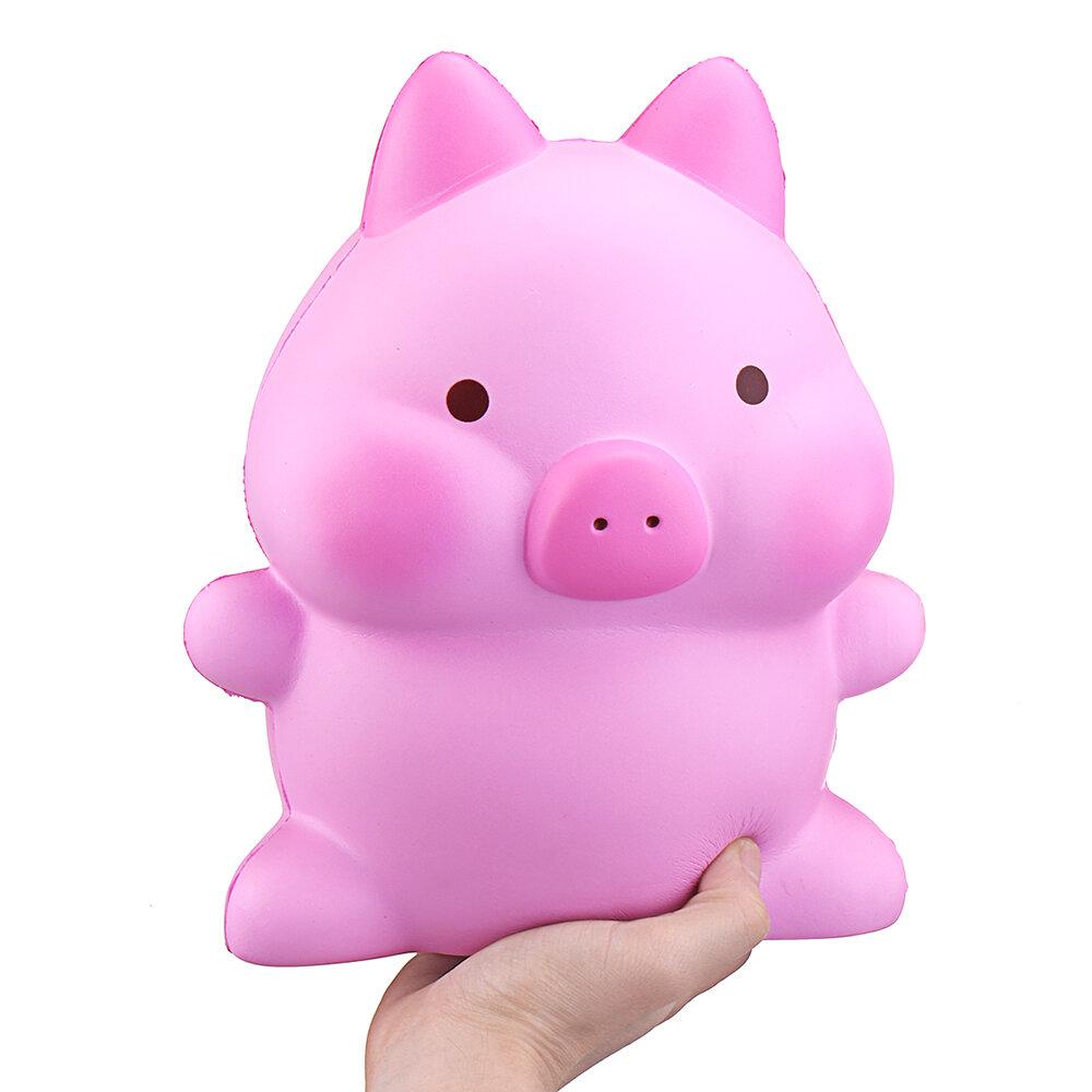 Giant Piggy Squishy 26см Свинья Kawaii Розовый Свинья Ароматизированный Медленно растущий отскок Джамбо Симпатичные игрушки