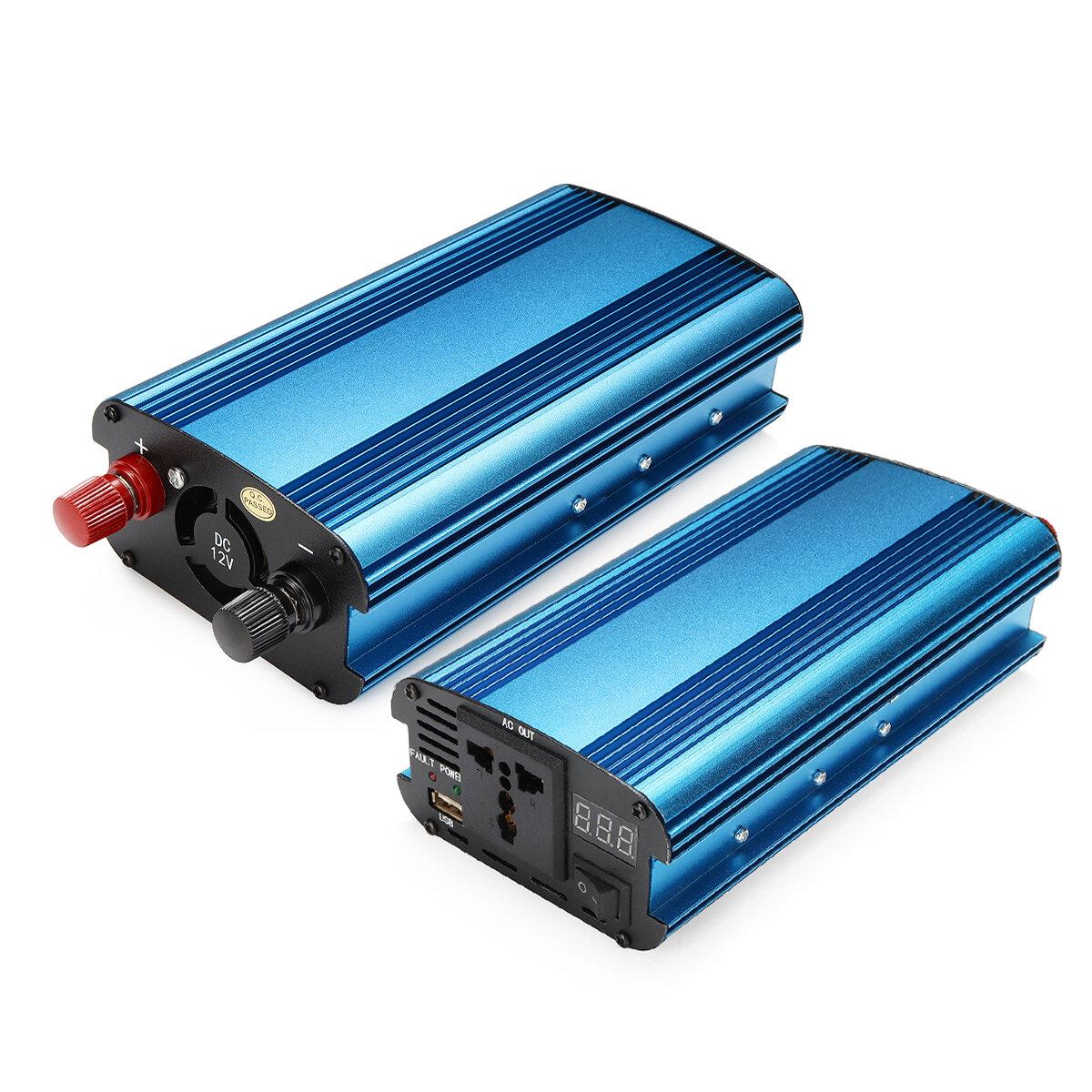 1200W PEAK DC 12V / 24V à AC 220V Chargeur inverseur de puissance LED Convertisseur sinusoïdal modifié