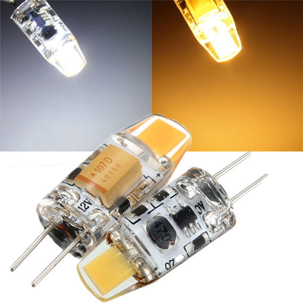 G4 1W COB Filament LED Spotlight Bulb Lamp Warm/Pure White AC/DC 10-20V