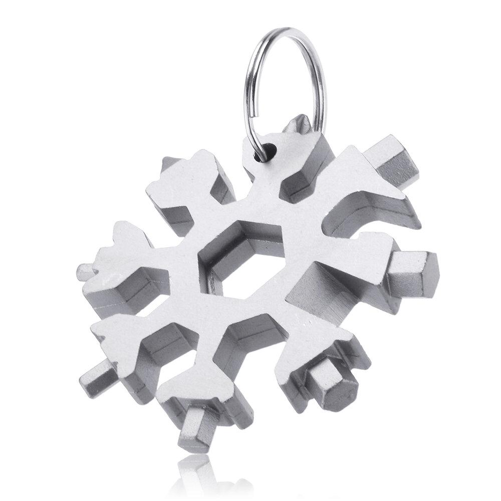 AOTDDOR 18 في 1 متعددة الوظائف EDC Snowflakes مفك متعدد الأدوات المحمولة كيشاين مفك فتحت زجاجة