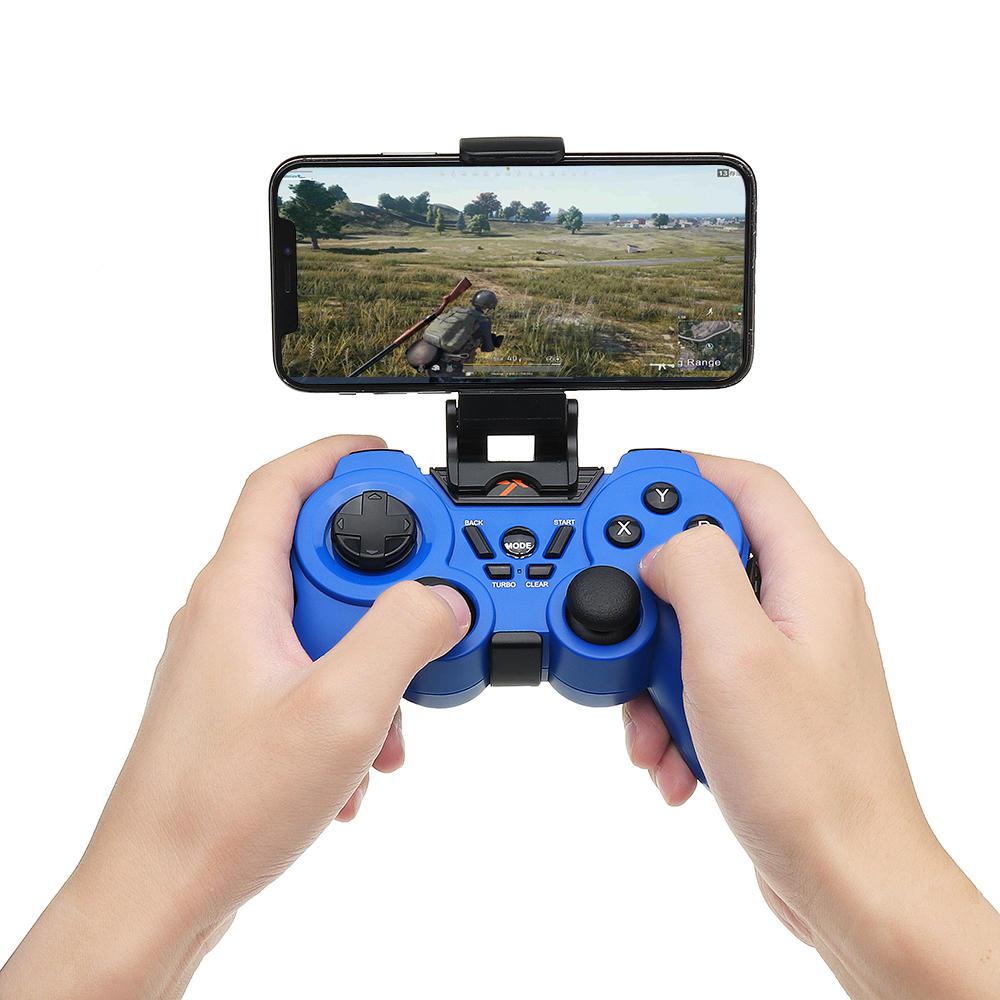 PXN 8663 Wired Bluetooth Vibration Turbo Gamepad com Clipe de Telefone para TV Tablet PC Android Telefone Móvel