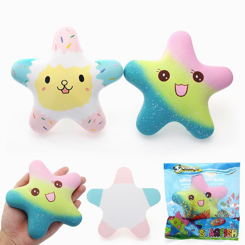 Vlampo Squishy Starfish Brilho Luminoso Em Escuro Licenciado Lento Nascente Embalagem Original Coleção Presente Brinquedo