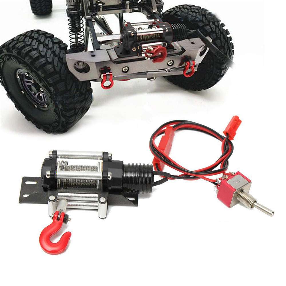 HD Steel Wired Winch Traction All Metal Type A YEA-YA-0386 for 1/10 Rock Crawlers Rc Car Parts