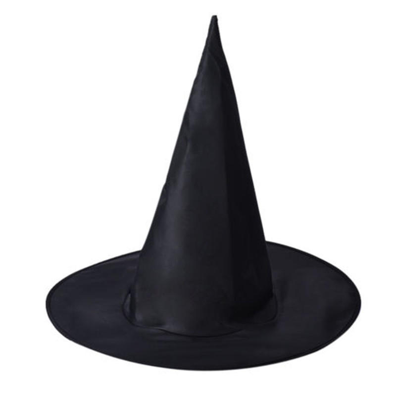 3Pcs Halloween Witch Black Pointy Hat Adult Kids Cosplay 37 x38cm
