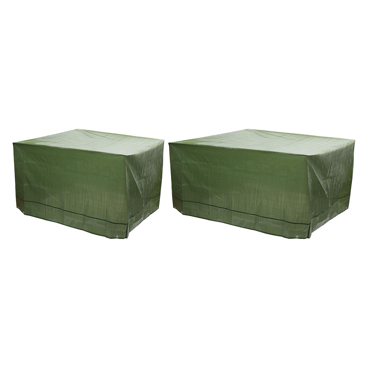 Single New PE Woven Durable Garden Furniture Dustproof And Waterproof Cover ArmyGreen