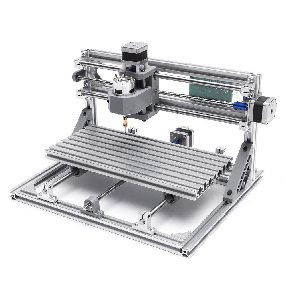 3018 3軸ミニDIY CNCルーター標準スピンドルモーターウッド彫刻機フライス削り機