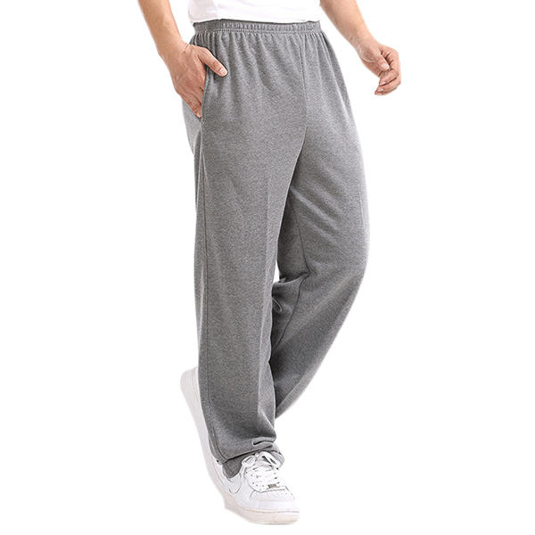 Spring Autumn Fleece Thick Sports Pants Mens Casual Loose Straight  Trousers Running Pants
