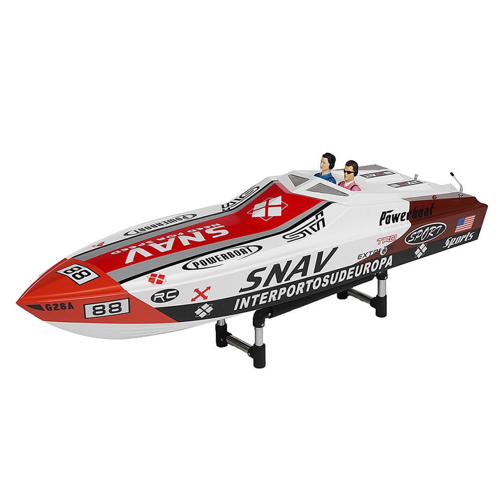 G26A 1180mm 2.4G 80km/h Rc Boat 30cc Gas Engine Fiber Glass Hull with Clutch RTR Model