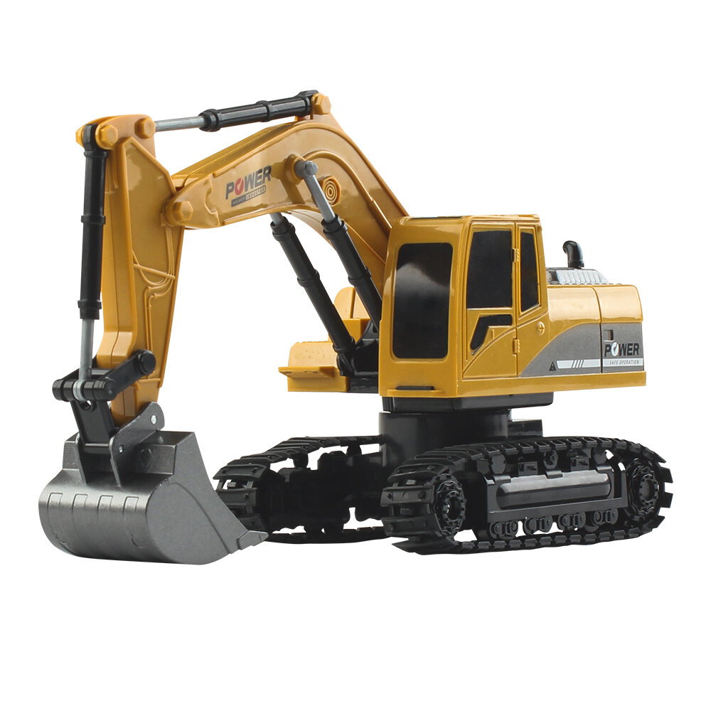 Mofun 1026 40Mhz 1/24 6CH RC Excavator Car Vehicle Models Toy Engineer Truck With Alloy Parts Light Music