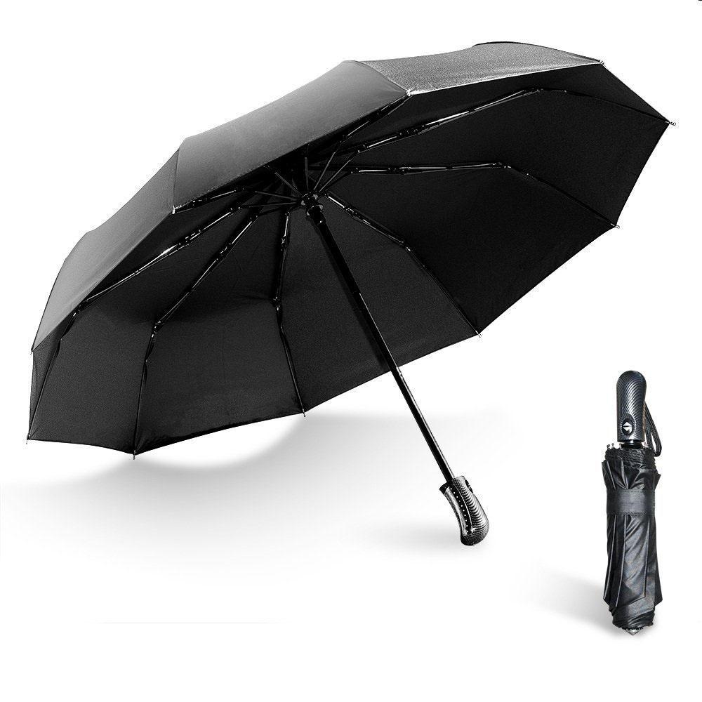 نافذة استراحة الطوارئ مظلة التلقائي للطي مظلة المضادة للأشعة فوق البنفسجية رجال كبير 10 الأضلاع يندبروف المظلات المطر والعتاد