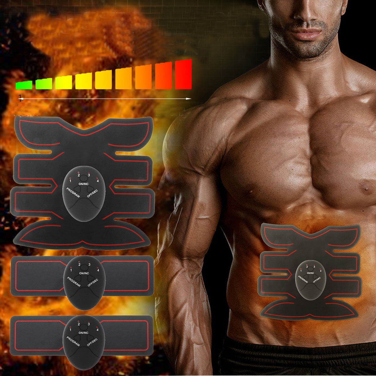KALOAD ABS Abdominale Muscle Trainer Pleine Muscle Corps Stimulation Fitness Massager