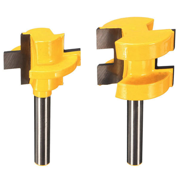 Drillpro RB4 2pcs 1/4 Inch Shank Router Bits Square Tooth Tenon Cutter
