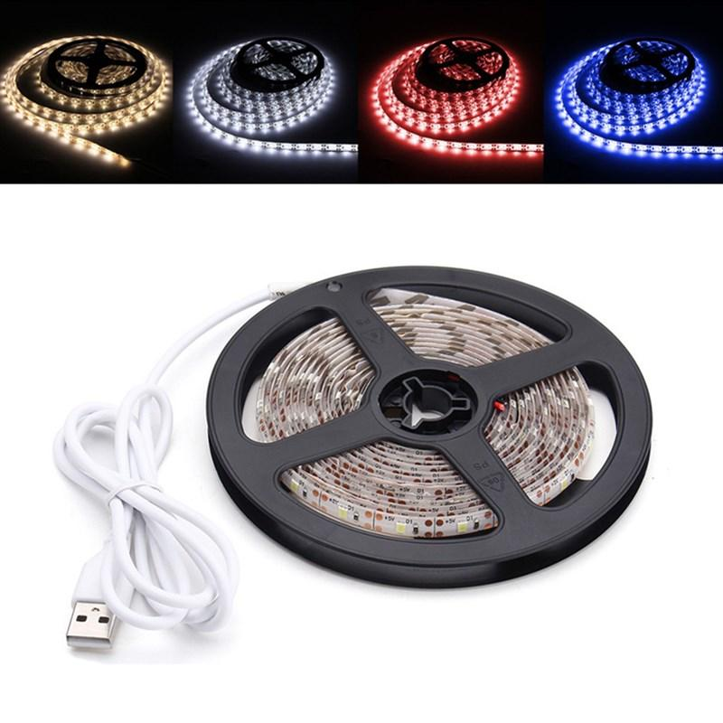 3M Pure White Warm White Red Blue 2835 SMD Waterproof USB LED Strip Backlight for Home DC5V