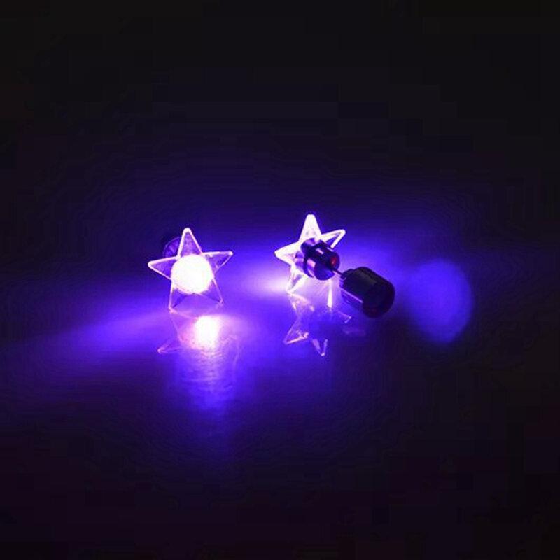 1 Paar Attraktive LED Ohrringe Leuchten Stern Glowing Charm Ohrstecker Damen Weihnachtsgeschenk