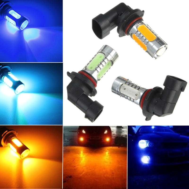 7.5W Amber Ice Blue H10 COB LED Replacement Bulb For Car Fog Daytime Light