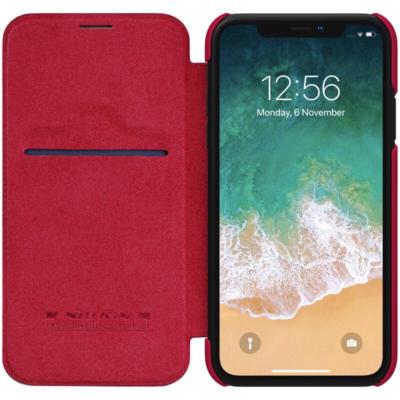 "Nillkin Schutzhülle für iPhone XR 6.1 ""PU Leder Kartensteckplatz Flip Cover"