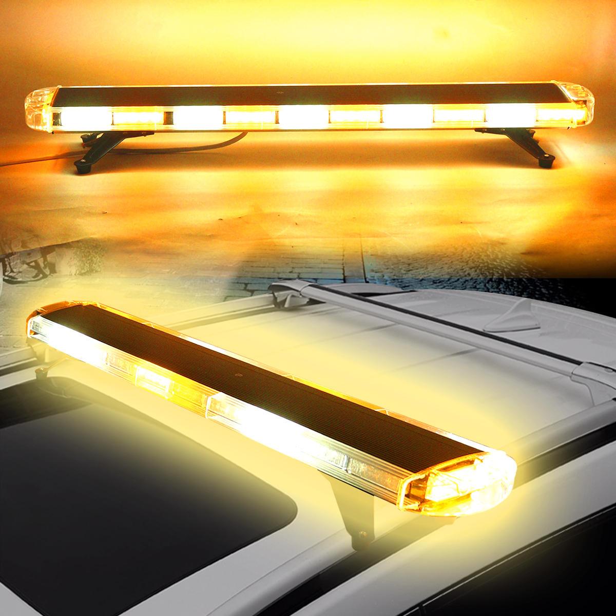 47Inch 88W LED Шкаф аварийного стробоскопа Flash Предупреждение Лампа Желтый и белый для Авто Грузовик внедорожник