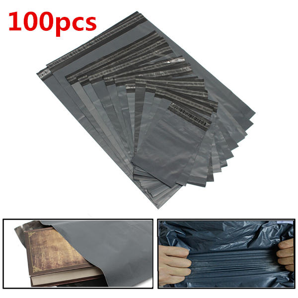 100pcs Poly Mailers Envelopes Shipping Packing Plastic Self Seal Ring Bags