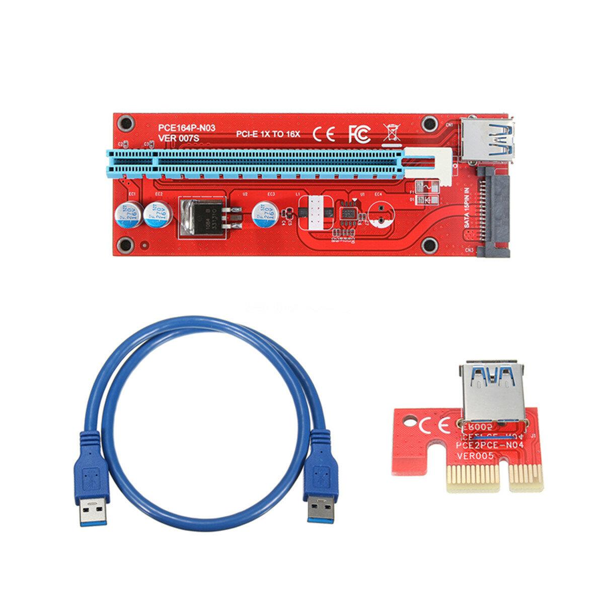 0.6m USB 3.0 PCI-E Express 1x to16x удлинительный кабель удлинитель Riser Board Card Adapter Cable