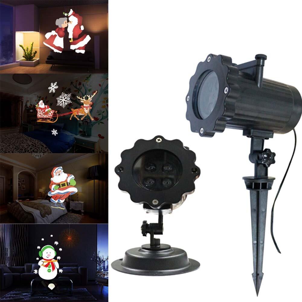 ARILUX®12パターン4 LEDリモートサンタクロースクリスマス移動レーザープロジェクター風景ステージライト
