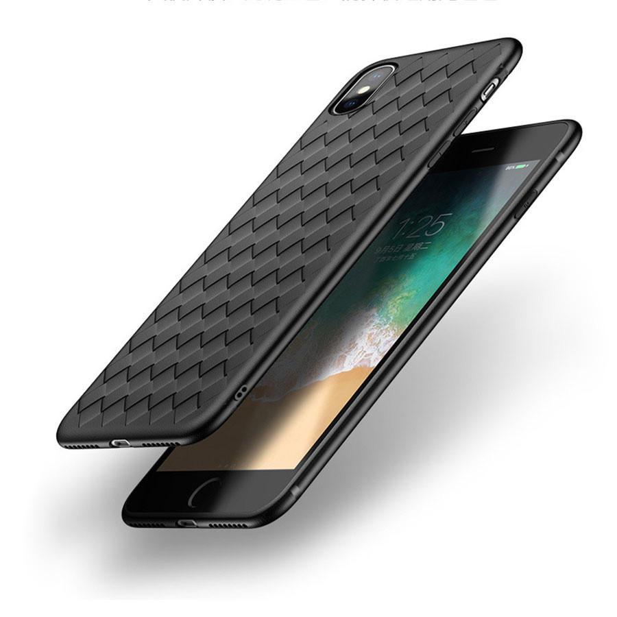 Bakeey ™ BV Weben Wärmeabgabe Soft TPU Silikonhülle für iPhone X
