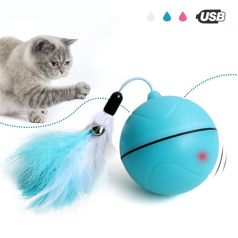Yooap Creative Gato Toys Interactive Automatic Rolling Ball para perros Smart LED Flash Gato Toys Electronic Dog Toys