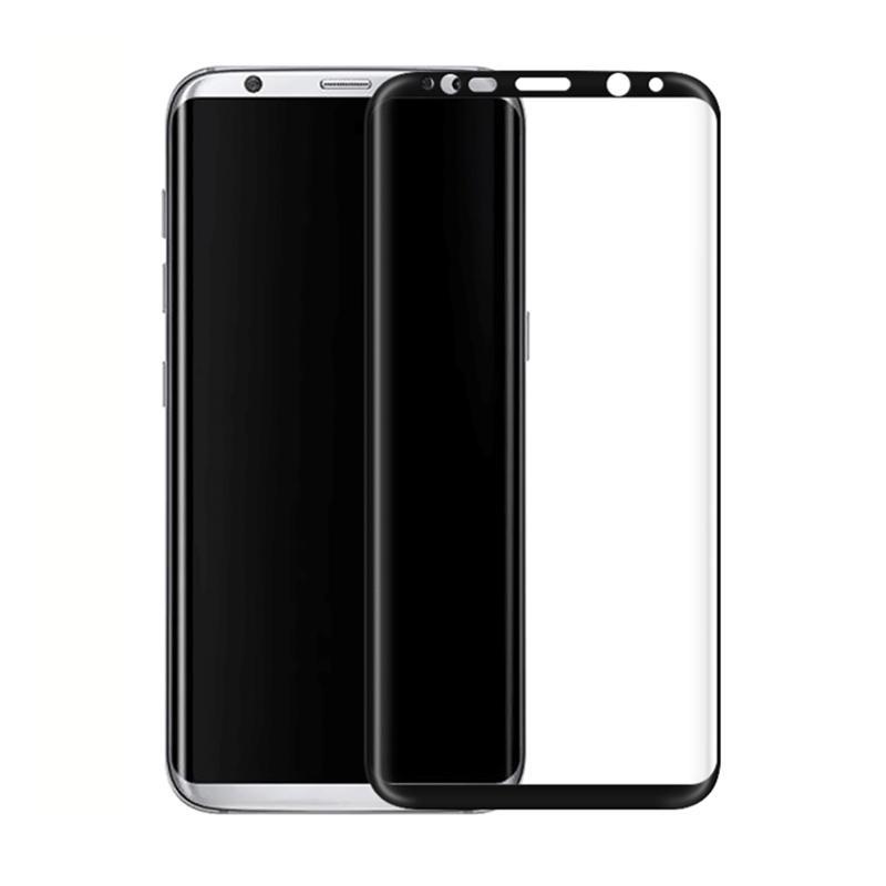 3D Arc Kenarı Renkli Tam Ekran Kapak Explosionproof Tempered Cam Ekran Koruyucu Samsung Galaxy S8 için