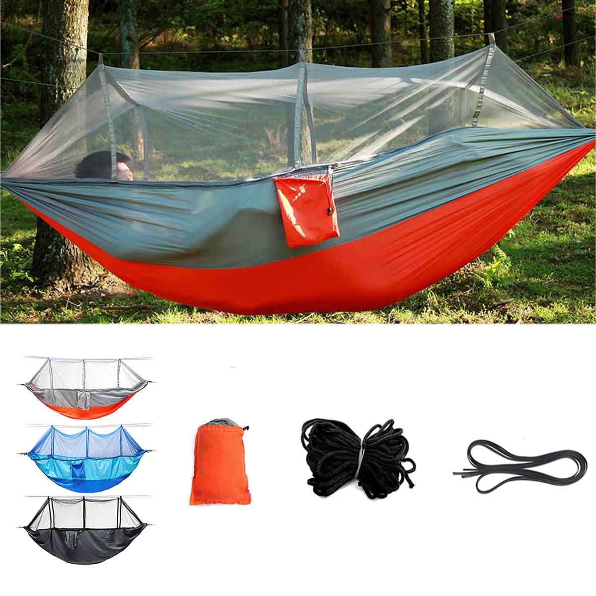 Outdoor Çift 2 Kişi Hamak Kampçılık Çadır Asılı Salıncak Yatağı Cibinlik