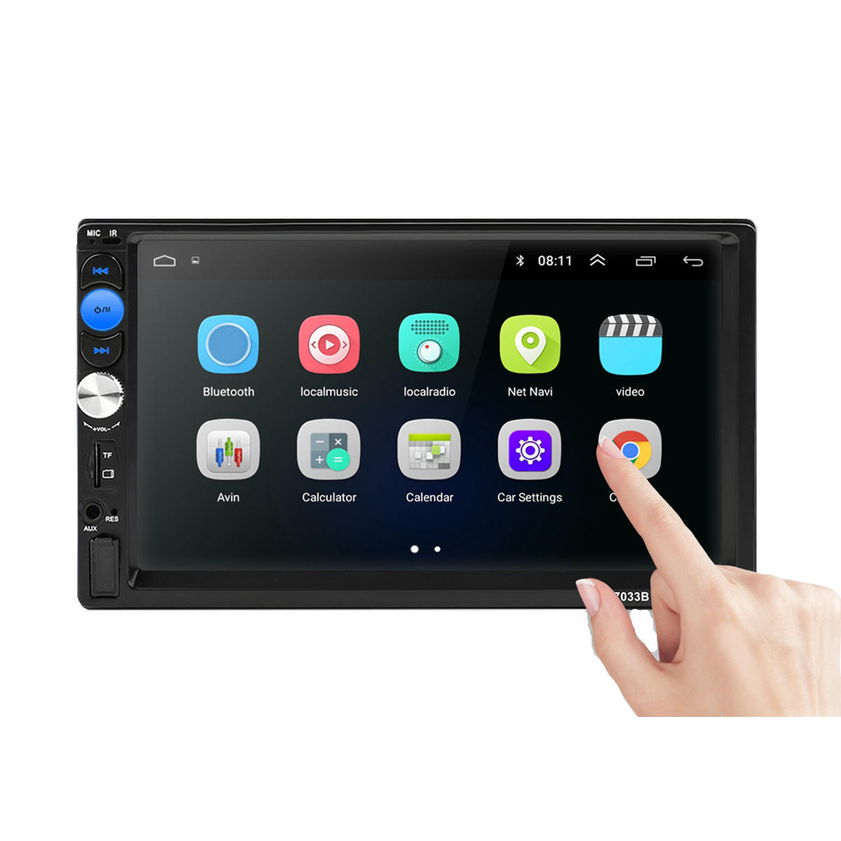 Android 8.1 7 inch Touch Screen Car MP5 Audio Video MP4 TF Card U Disk AUX bluetooth MP3 Player Radio