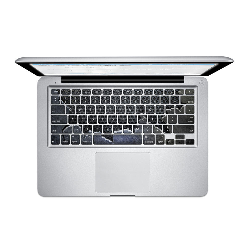 PAG Fragmentary Steel Plate PVC Keyboard Bubble Free Self-adhesive Decal For Macbook Pro 13 15 Inch