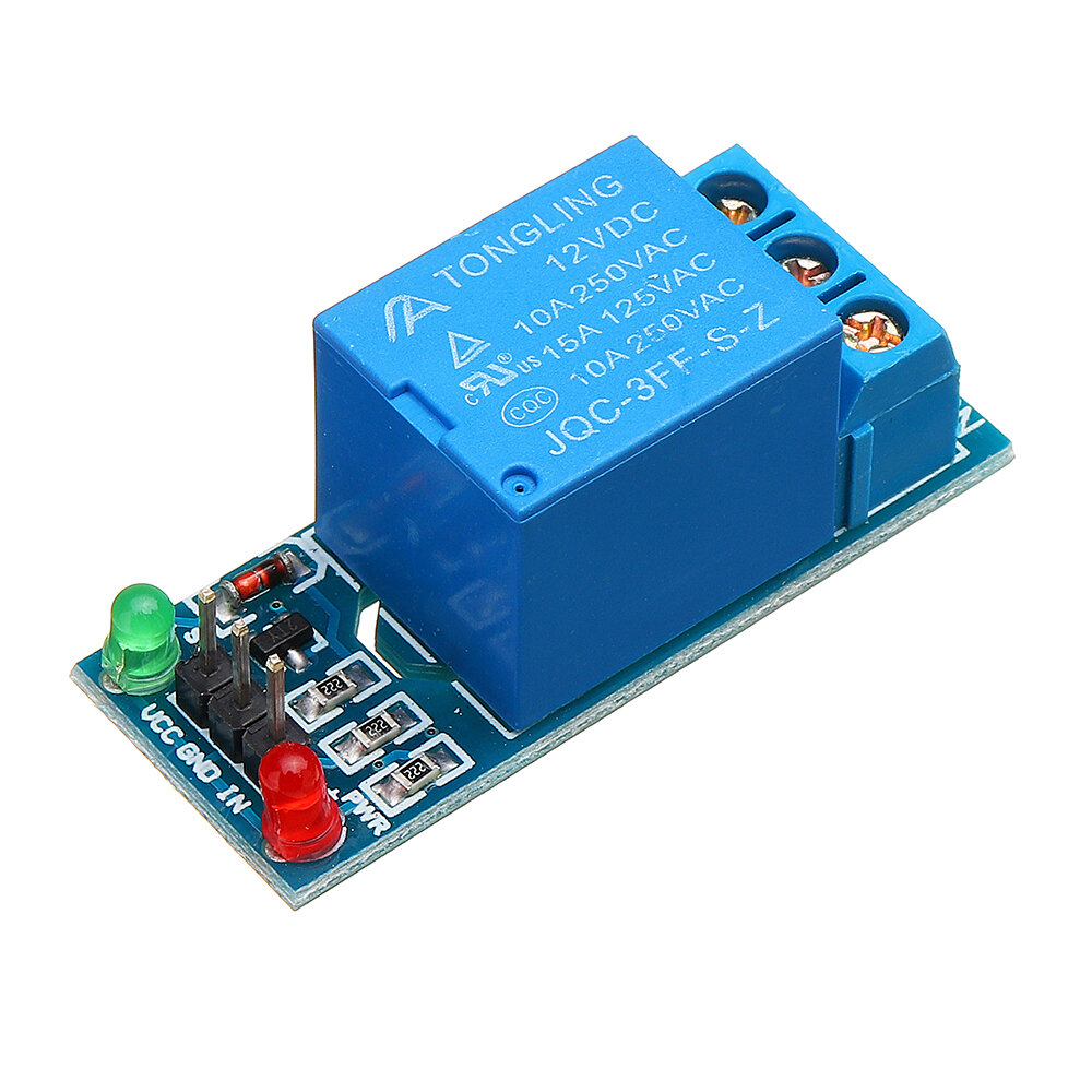 1 Channel 12V Relay Module with Optocoupler Isolation Relay High Level Trigger Geekcreit for Arduino - products that work with official Arduino boards