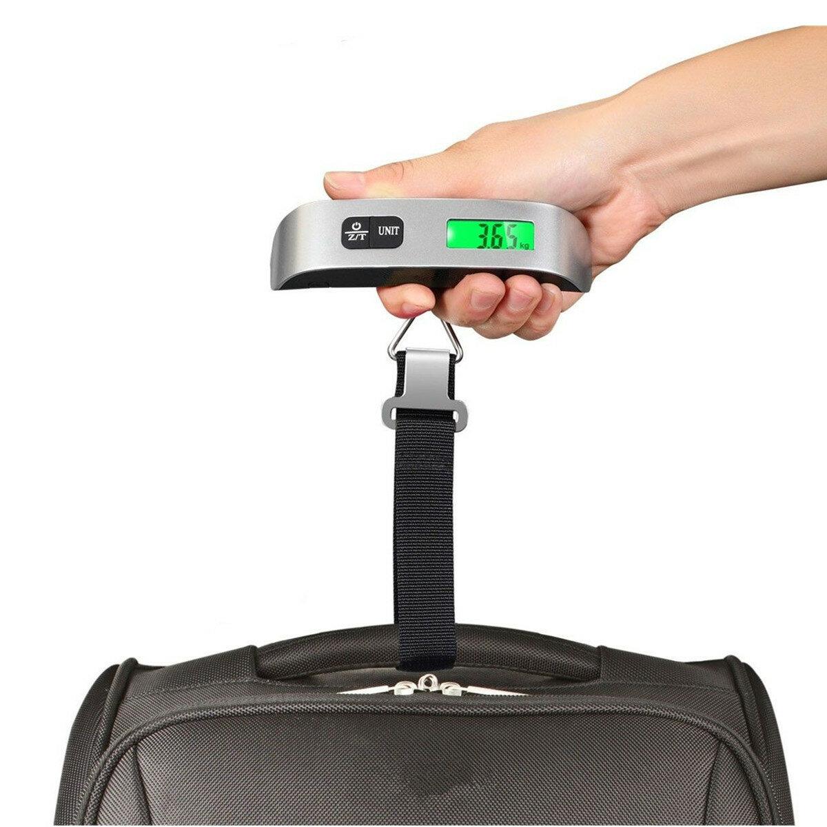 Poids accrochant 110lb 50kg de crochet d'affichage de voyage d'affichage numérique de la balance LCD de Digital