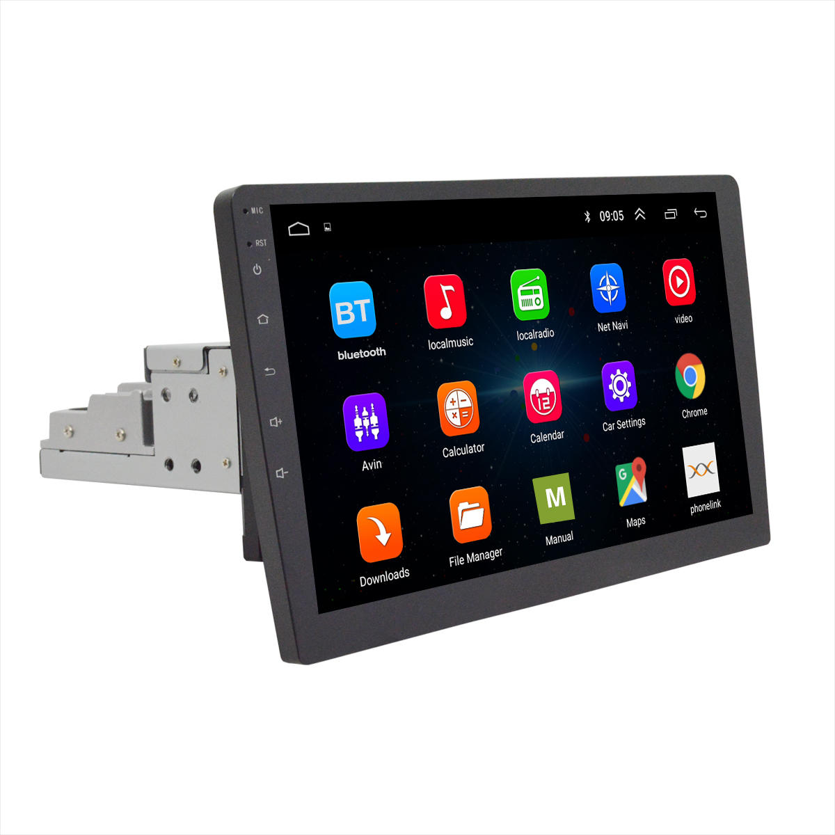 10.1 Inch 2G+32G Android 8.0 1Din GPS Wifi Adjustable Rotation Touchscreen Car MP5 Player Radio Stereo