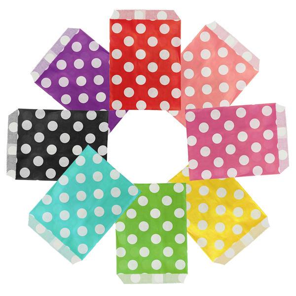 25pcs biodegrable горошек конфеты мешок подарка венчания партии мешок бумажный еды