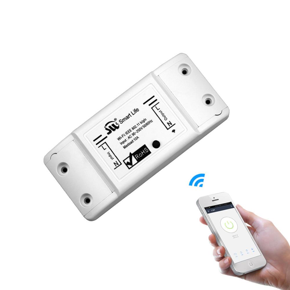 MoesHouse DIY WiFi Smart Light Switch Universal Breaker Timer Smart Life APP Wireless Remote Control Works With Alexa Google Home