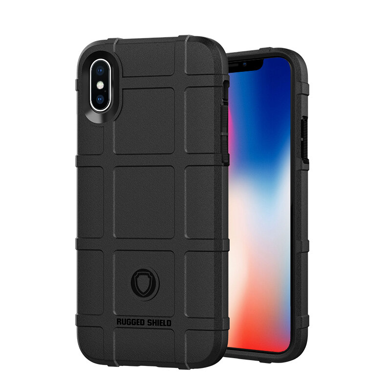 Bakeey Rugged Shield Soft Silicone Protective Case for iPhone X