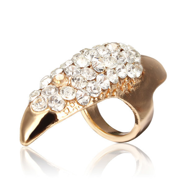 1Pc Crystal Ring Claw Ring paznokci