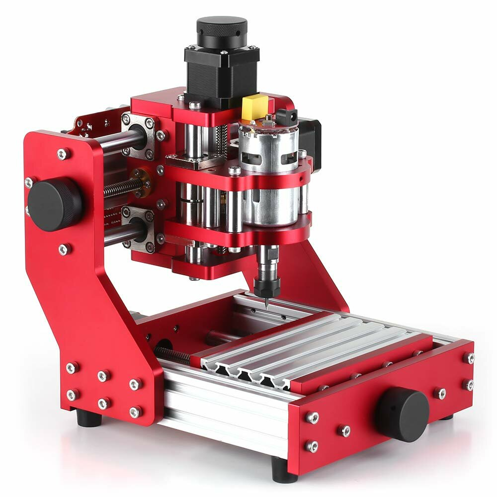 Red 1310 3 Axis Mini DIY CNC Router Standard Spindle Motor PCB Wood Metal Laser Engraving Machine Milling Engraver Woodworking